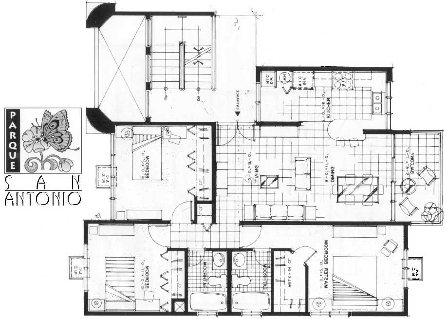 Apartment layout ideas two bedroom apartment design with for Small apartment complex plans